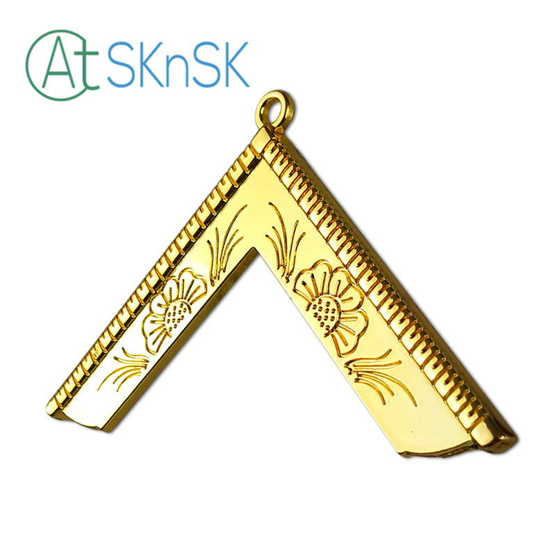 Masonic Worshipful Master Gold Jewel Pendant the Square