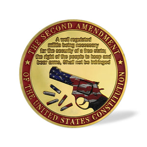 US Constitution 2nd Amendment Police Challenge Coin