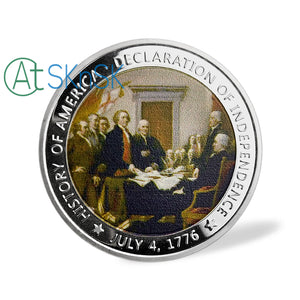 1776 US The Declaration of Independence Challenge Coin
