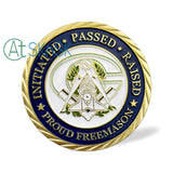 Mottoes Of Freemasonry's Challenge Coin Gold Edition