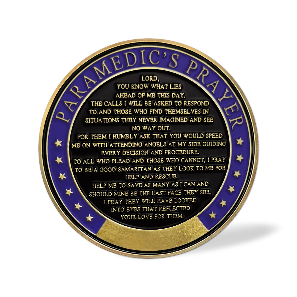 Thank You Medical Team Ambulance Paramedic's Prayer Challenge Coin