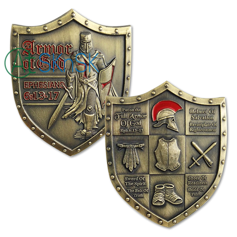 Put on the Full Armor of God Eph. 6:13-17 Challenge Coin