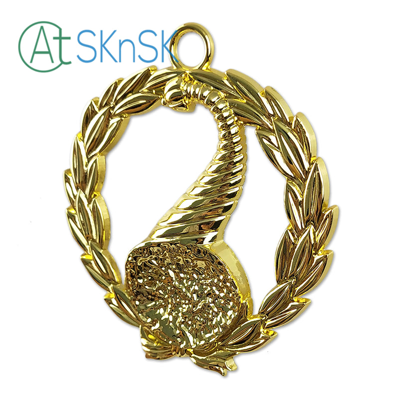 Masonic Junior Stewards Gold Jewel Pendant the Right Harvest Basket