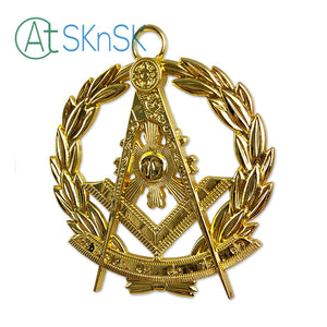 Masonic Past Master Gold Jewel Pendant the Square & Compass Symbol