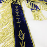 Masonic Blue Lodge LEATHER Cover Apron Gold Embroidery and Tassels  Featured with the Past Master