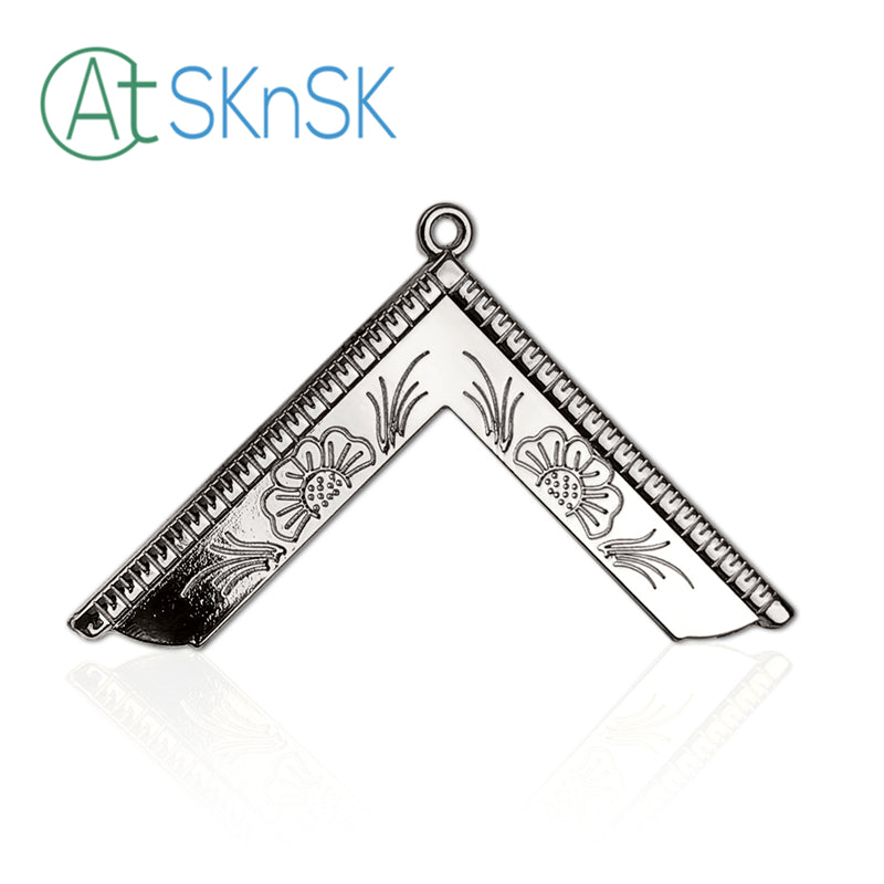 Masonic Worshipful Master Silver Jewel Pendant the Square