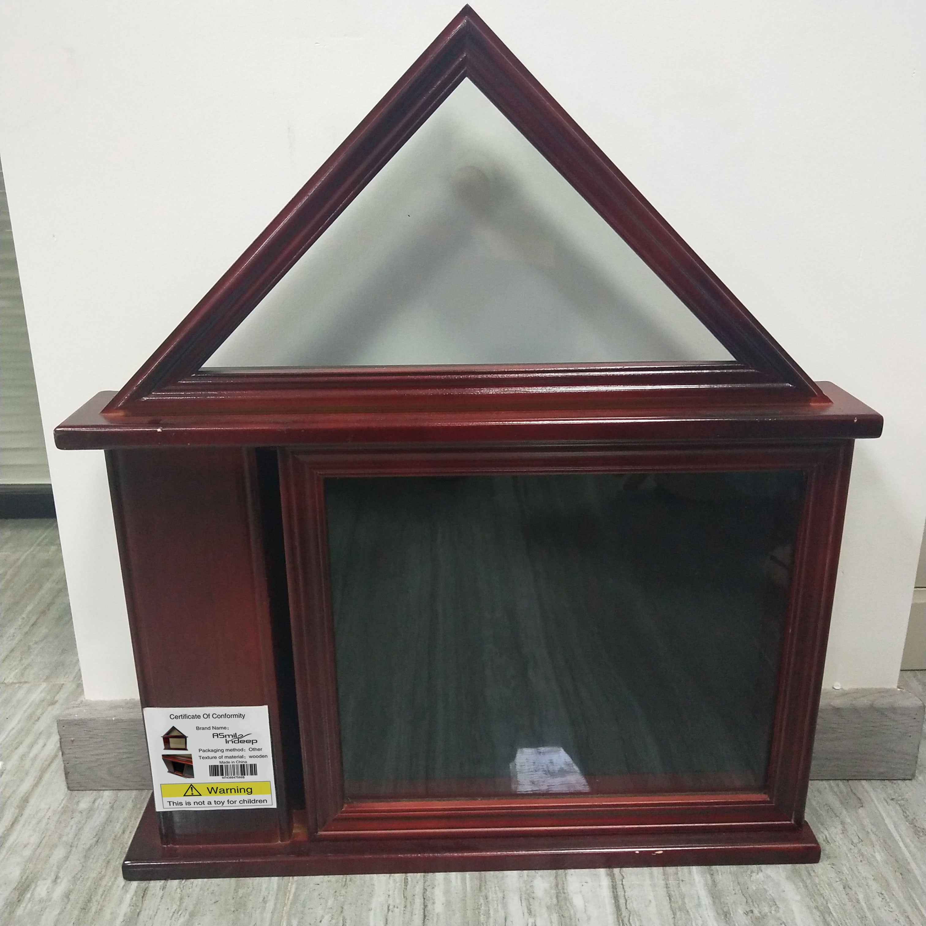 ASmileIndeep Flag Display Case With Certificate Holder