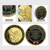 St. Michael The Archangel Protector Of Police's Prayer Challenge Coin Gold Edition