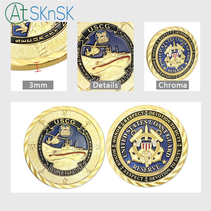 United States Coast Guard Reserve GoldChallenge Coin