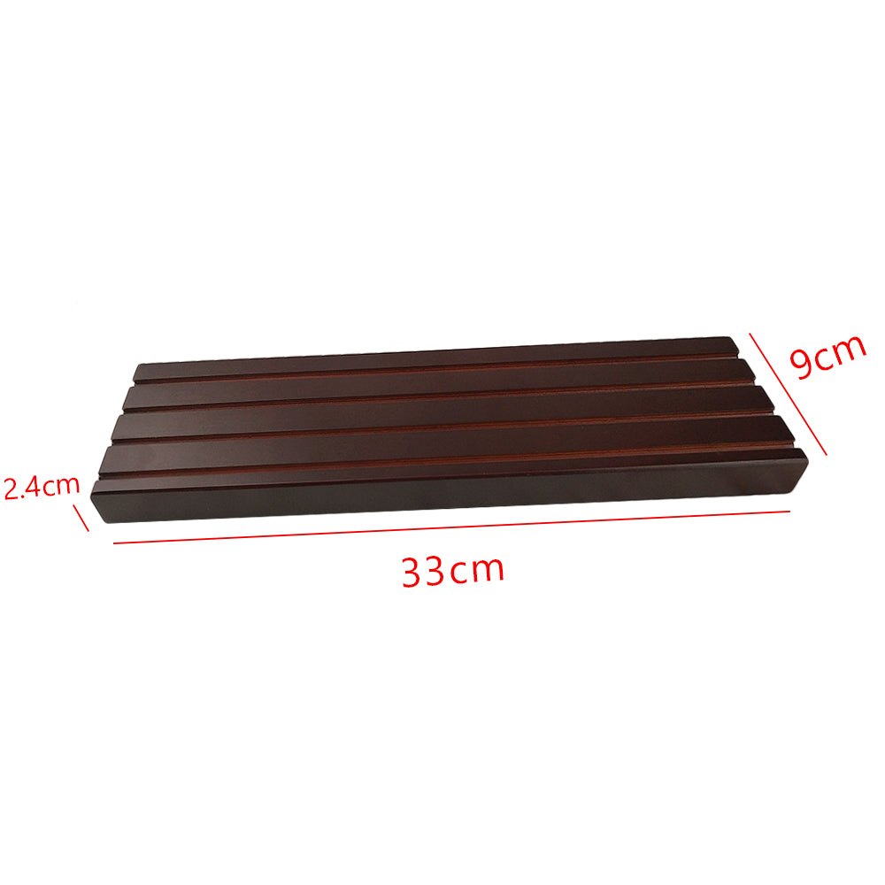 Wooden Deep Cherry Finish Challenge Coin Rack 13 inch long 4 Rows Display Stand