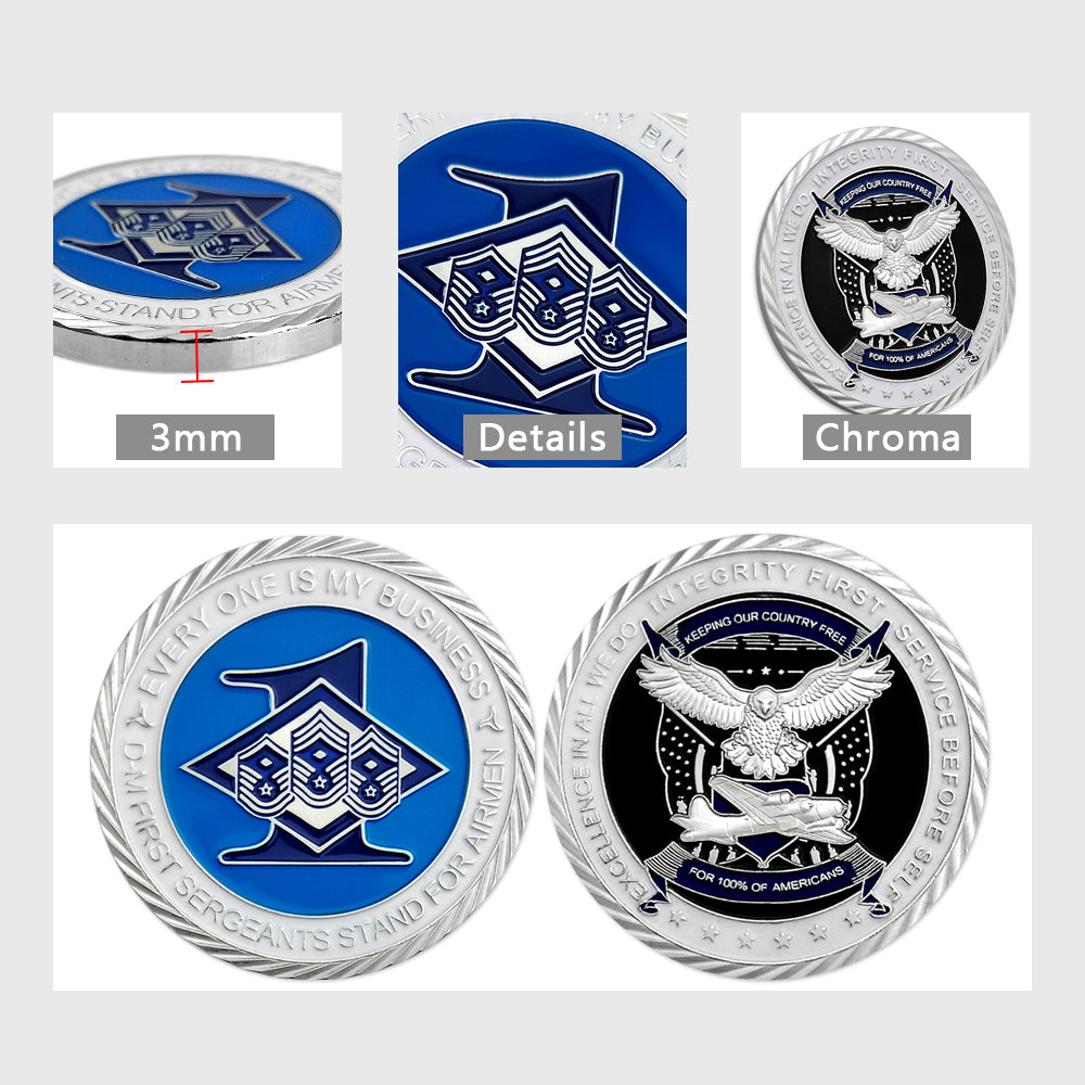 United States Air Force First Sergeant Diamond Challenge Coin