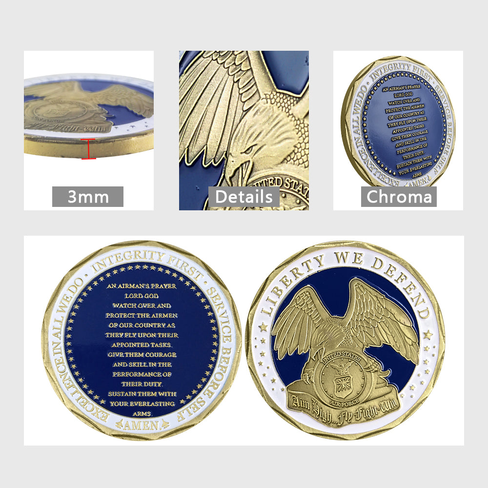 Prayer of the Air Force Eagle Challenge Coin