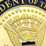 Donald Trump's Signiture & White House Challenge Coin Gold Edition