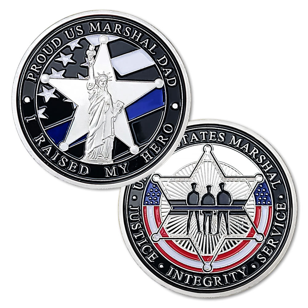 United States Blue Flag Liberty Challenge Coin