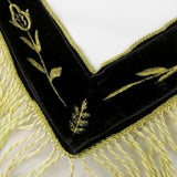 Masonic Blue Lodge LEATHER Cover Apron Gold Embroidery and Tassels Featured with the Past Master Symbol