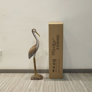 ASmileIndeep Crane Standing Crafts Bird Decoration Art Sculpture