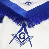 Masonic Blue Lodge LEATHER Apron with Tassels Featured with Compass & Square G Symbol