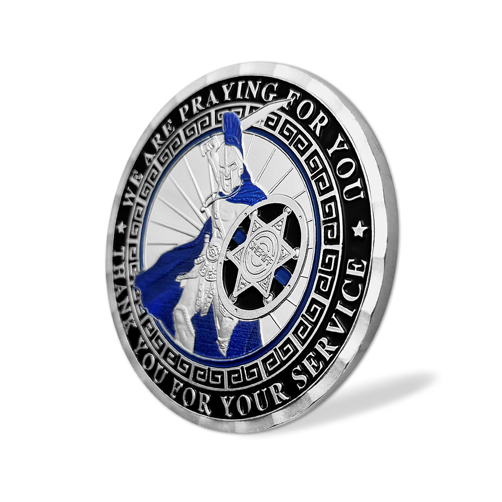 Deputy Sheriff's Prayer Spartan Warrior Challenge Coin