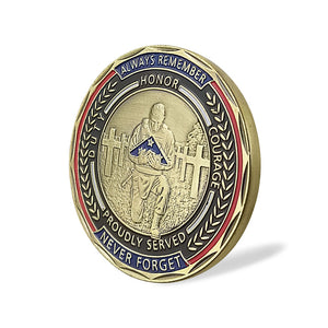 United States Veteran We Stand for the Flag Challenge Coin