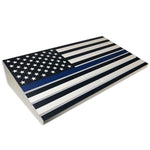 Thin Blue Line/ Stars and Stripes Engraving Challenge Coin Display