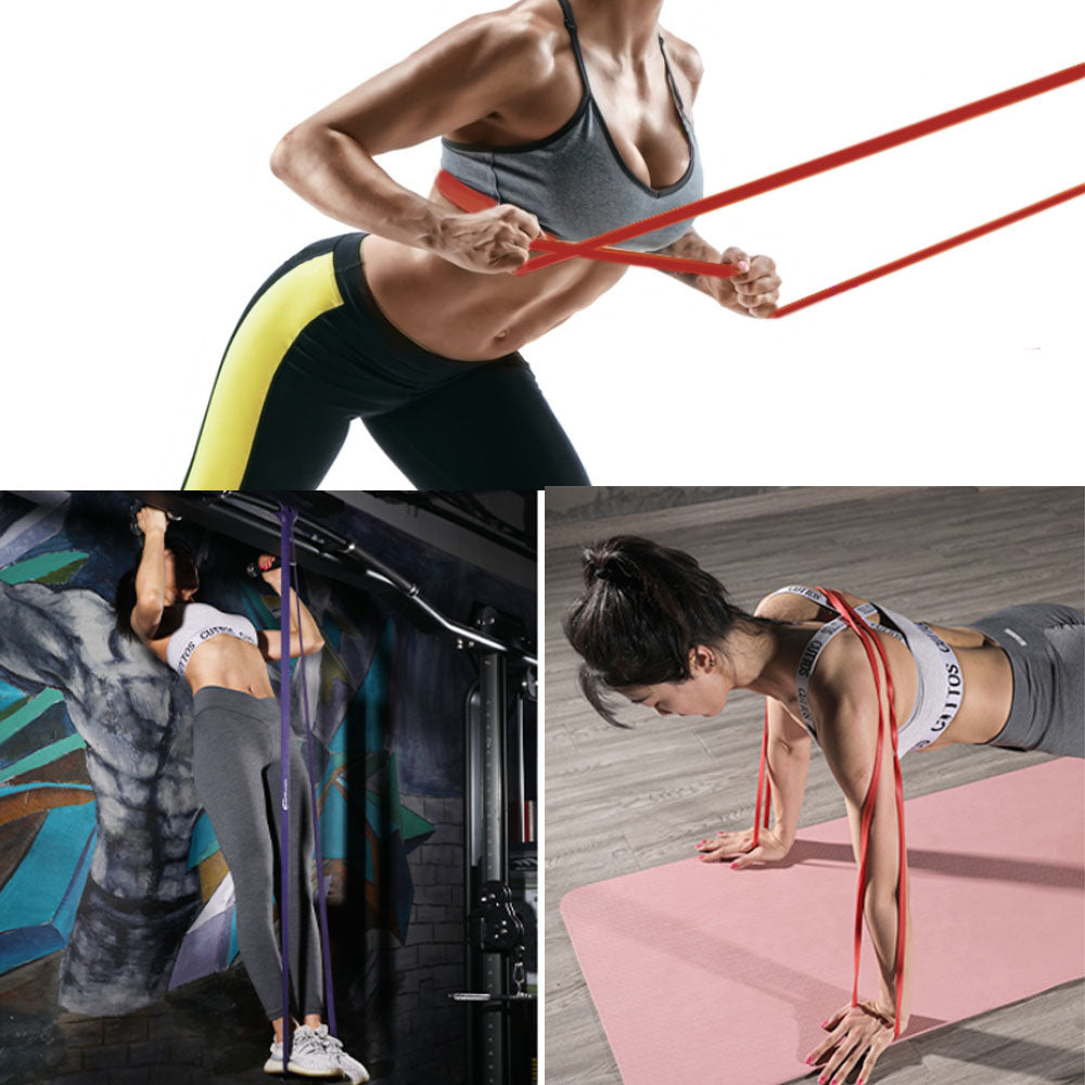 4color in a set Rubber Exercise Bands for Home Exercise Yoga Workout Latex Resistance Bands Pull Up Assist Bands Sport Equipment Gym Fitness