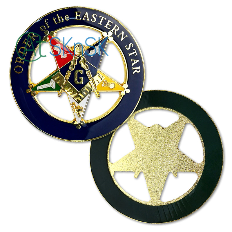 Masonic Order of the Eastern Star Round Car Auto Emblem