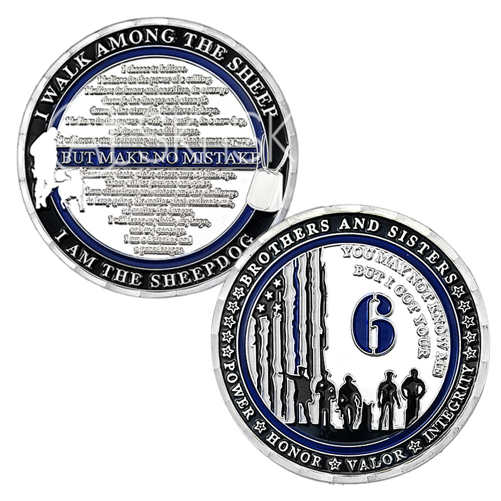 I Got Your Six Police Challenge Coin