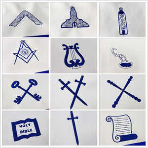 Masonic Blue Lodge 15 Stations Apron Bundle