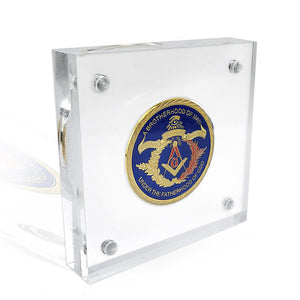 Acrylic Display Rack Military Challenge Coin Display Holder