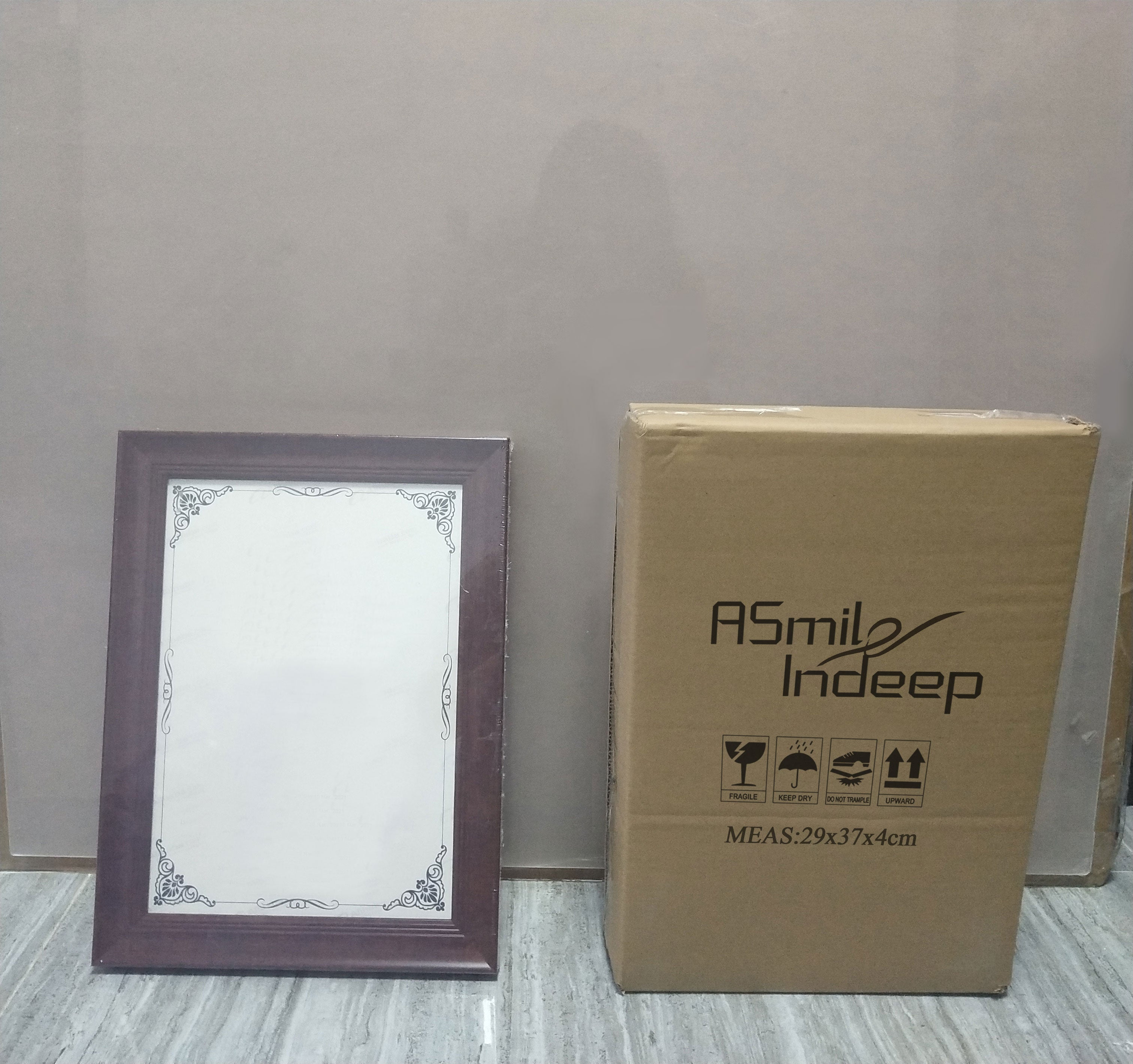 ASmileIndeep Photo Frame Removable Soild Wooden