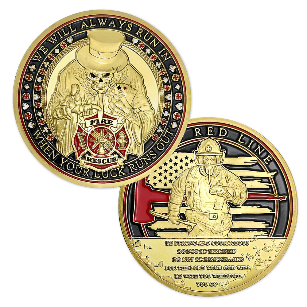 Firefighter Poker Challenge Coin