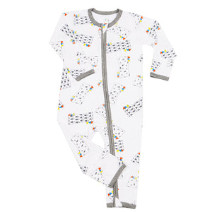 Romper Zip Buddy-Me Everywhere Milk