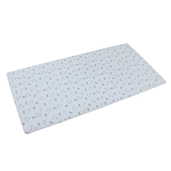 Mattress Sheet Small Moon & Sheepz Blue