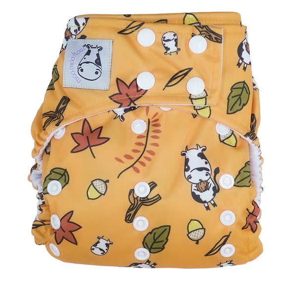 Cloth Diaper One Size Snap - Autumn