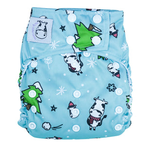 Cloth Diaper One Size Snap - Winter