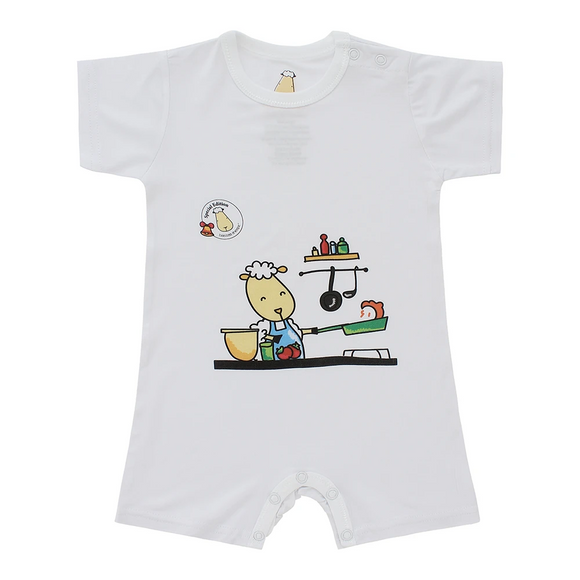 SPECIAL EDITION - Romper Short Sleeve Chef White