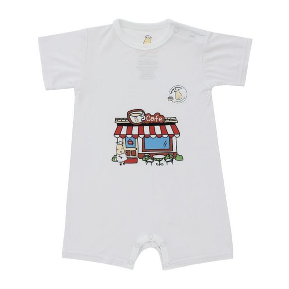 SPECIAL EDITION - Romper Short Sleeve Café White