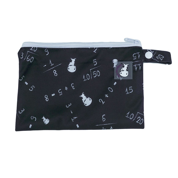Wet Bag Small - Maths Black