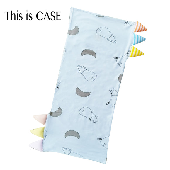 Bed-Time Buddy™ Case Big Moon & Sheepz Blue with Color & Stripe tag - Jumbo
