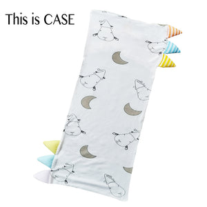 Bed-Time Buddy™ Case Big Moon & Sheepz White with Color & Stripe tag - Medium