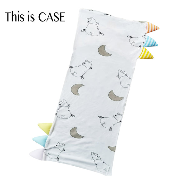 Bed-Time Buddy™ Case Big Moon & Sheepz White with Color & Stripe tag - Jumbo