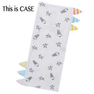 Bed-Time Buddy™ Case Small Star & Sheepz White with Color & Stripe tag - Jumbo
