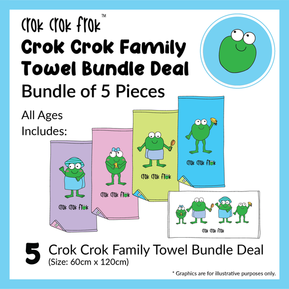 Crok Crok Family Towel Bundle Deal