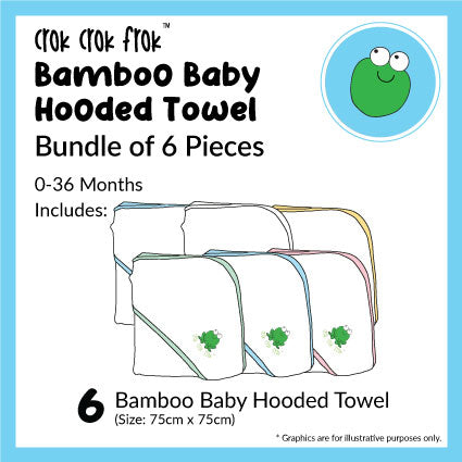 CrokCrokFrok Bamboo Hooded Towel Bundle