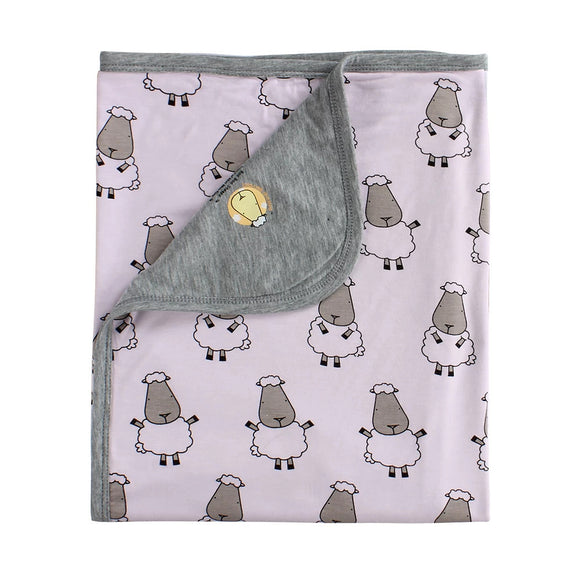 Double Layer Blanket Big Sheepz Pink Kids