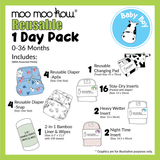 Moo Moo Kow® - Reusable 1 Day Package