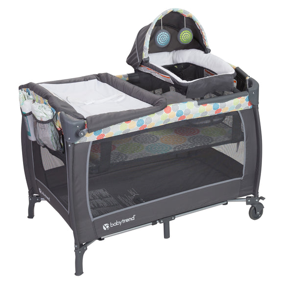 BabyTrend Lil Snooze Deluxe II Nursery Center/Playpen - Funfetti