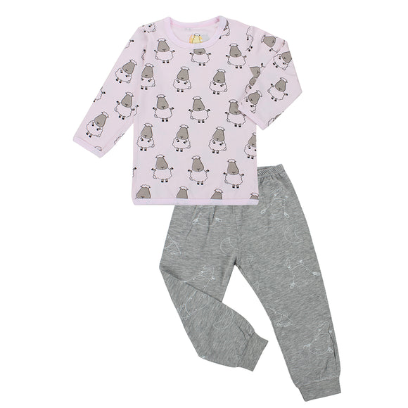 Pyjamas Set Big Sheepz Pink + Big Moon & Sheepz Grey