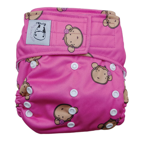 Cloth Diaper One Size Aplix - Lucky Mooky