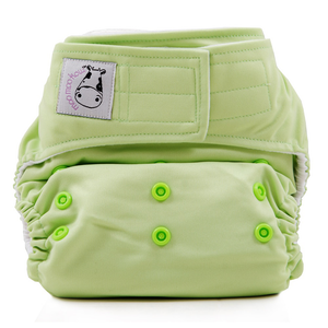 Cloth Diaper One Size Aplix - Celery